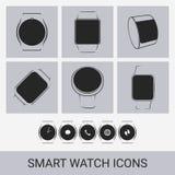 Smart watch icons Stock Photo