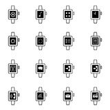 Smart watch icons set vector illustration Royalty Free Stock Image