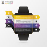 Smart Watch Infographic Design Template. Vector Stock Photography