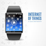 Smart Watch Internet Concept Stock Images
