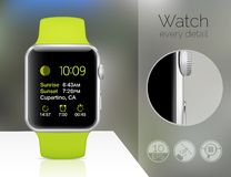 Smart watch isolated Stock Images