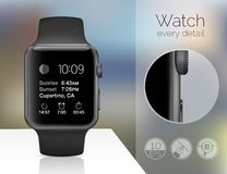 Smart watch isolated Royalty Free Stock Photography