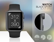 Smart watch isolated Royalty Free Stock Photos