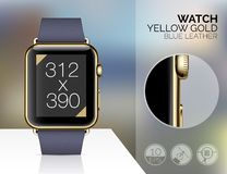 Smart watch isolated Royalty Free Stock Images