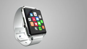 Smart watch isolated on white stock footage
