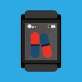 Smart watch medical service pill medicine Stock Photo