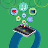 Smart watch new technology electronic device Royalty Free Stock Photography
