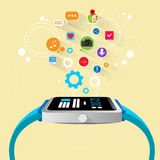 Smart watch new technology electronic device with Royalty Free Stock Image