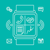 Smart watch outline Royalty Free Stock Photos