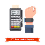 Smart watch POS terminal payment Royalty Free Stock Image