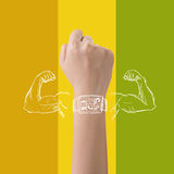 Smart watch powe Royalty Free Stock Image