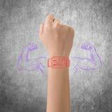 Smart watch powe Stock Image