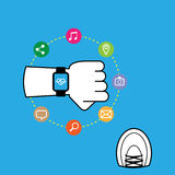 Smart watch while running Royalty Free Stock Photos