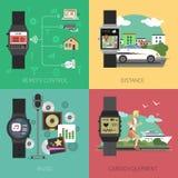 Smart Watch Set Stock Image