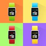 Smart Watch Set New Technology Electronic Device Stock Image