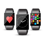Smart watch set or touch screen concept Royalty Free Stock Images