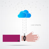 Smart watch and smart phoneon background with internets connecti Stock Photos