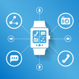 Smart watch for social media Royalty Free Stock Photos