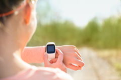 Smart watch for sport with heart rate monitor Stock Photos