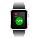 Smart watch with sports tracker Royalty Free Stock Photos