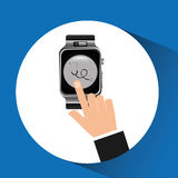 Smart watch stethoscope health technology Stock Photo