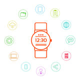 Smart Watch Technology Electronic Device Apps Stock Photo
