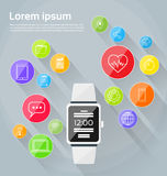 Smart Watch Technology Electronic Device Apps Royalty Free Stock Photo