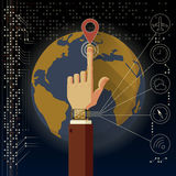 Smart watch technology Stock Images