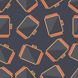 Smart watch. Vector seamless pattern Royalty Free Stock Images