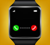 Smart watches accepting an incoming call. Illustration vector illustration