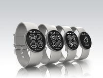 Smart watches isolated on gray background Royalty Free Stock Photo