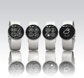 Smart watches isolated on gray background Royalty Free Stock Image