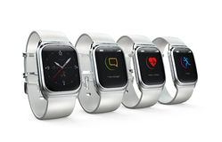 Smart watches isolated on white background Royalty Free Stock Photography