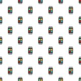 Smart watches pattern seamless. In flat style for any design Royalty Free Stock Photo