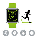 Smart Watches Runner Royalty Free Stock Images