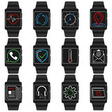 Smart watches. Vector icon set of smart watches Stock Images