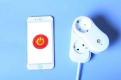 Smart wifi socket Royalty Free Stock Image
