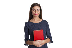 Smart woman with books Royalty Free Stock Photos