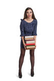 Smart woman with books Stock Photos