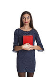 Smart woman with books Royalty Free Stock Photo