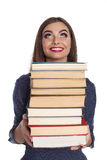 Smart woman with books Stock Image