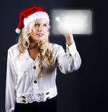 Smart Woman Shopping Online For Christmas Presents Royalty Free Stock Image