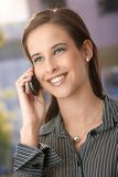 Smart woman using mobile phone Stock Image