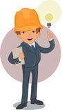 Smart worker cartoon character Stock Images