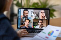 Free Smart Working And Video Conference Stock Image - 176254031