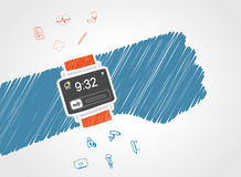 Smart wristwatch Royalty Free Stock Photo
