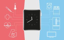 Smart wristwatch Royalty Free Stock Image