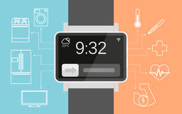 Smart wristwatch Royalty Free Stock Photography