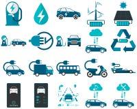 Smart y vehículo eléctrico en color libre illustration