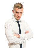 Smart young businessman. Royalty Free Stock Images